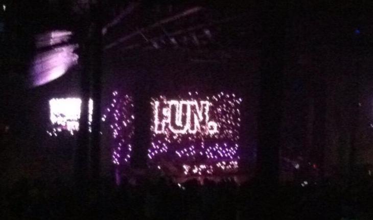 Fun. concert pic